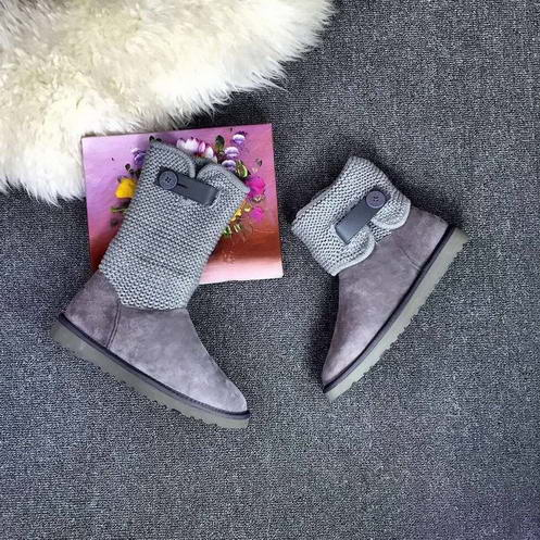 UGG 1012534 Leather & Wool Grey