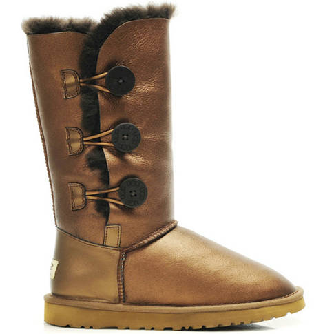 Bailey Button Triplet 1873 Metallic Ugg Boots - Golden