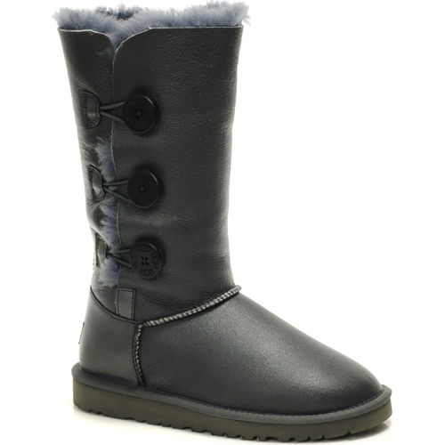 Bailey Button Triplet 1873 Metallic Ugg Boots - Gray