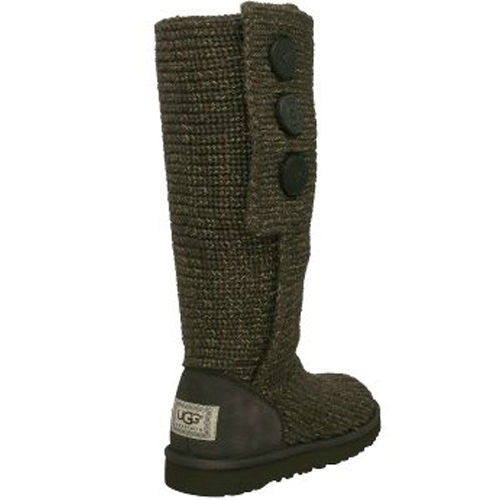 Classic Cardy S/N 1876 Metallic Knit Ugg Boots - Brown