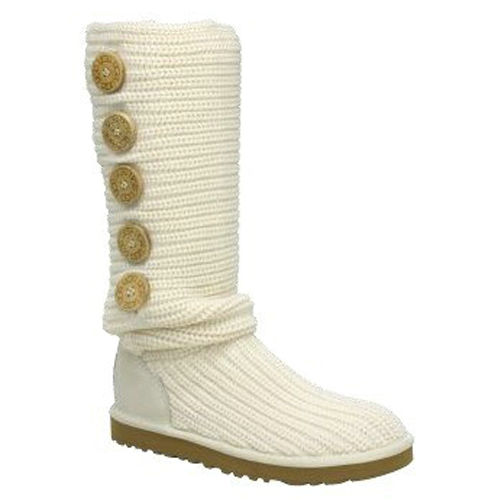 Cardy Tall Model 1878 Knit Ugg Boots - White
