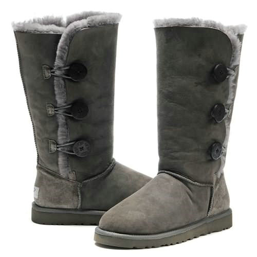 Kids Bailey Button Triplet 1962 Ugg Boots - Gray