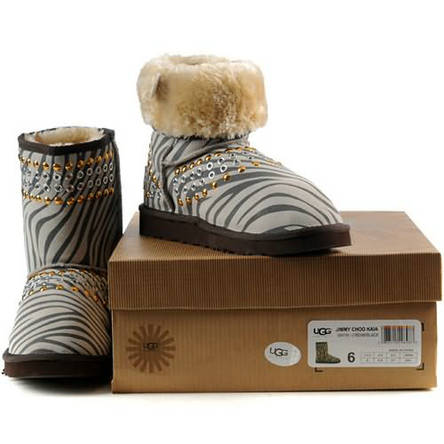 Jimmy Choo Kaia 3041 Ugg Boots - Cream Black
