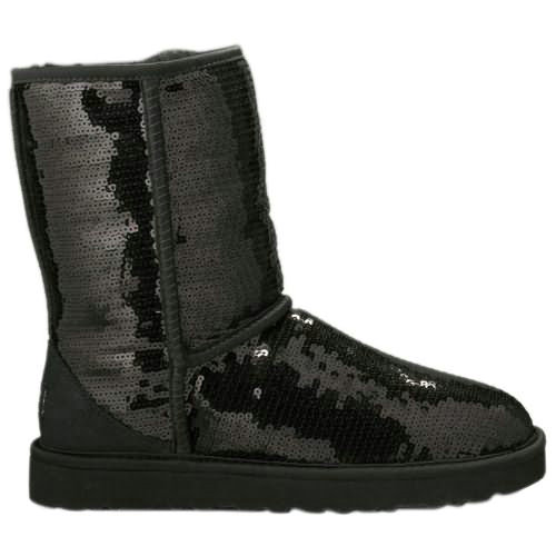 Classic Sparkle Model 3161 Sequin Ugg Boots - Black