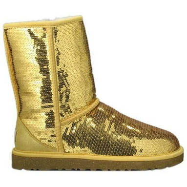 Classic Sparkle Model 3161 Sequin Ugg Boots - Gold