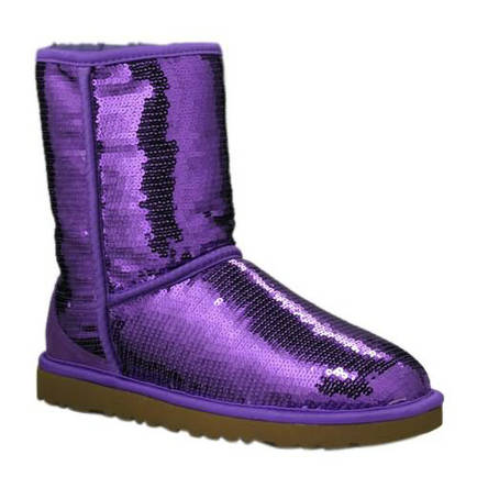 Classic Sparkle Model 3161 Sequin Ugg Boots - Purple