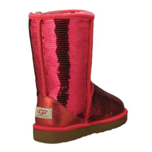 Classic Sparkle Model 3161 Sequin Ugg Boots - Red