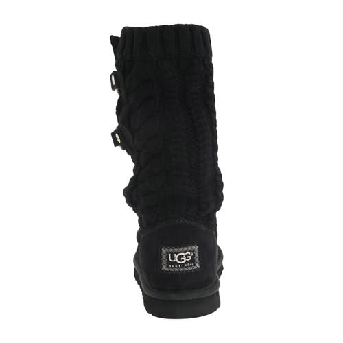 Tularosa Route Cable 3177 Knit Ugg Boots - Black