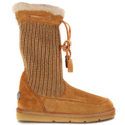 Surburb Crochet S/N 5124 Knit Ugg Boots - Chestnut