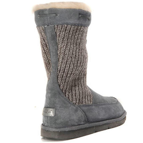 Surburb Crochet S/N 5124 Knit Ugg Boots - Gray