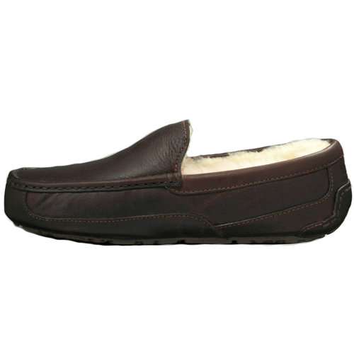 Mens Ascot S/N Style 5379 Ugg Flats - Chocolate