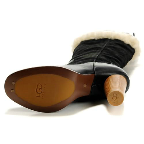 Raya 5598 Leather Ugg Boots - Black