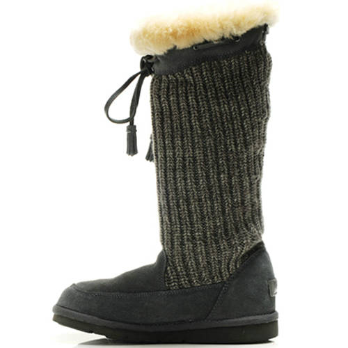 Suburb Crochet 5733 Knit Boots - Gray