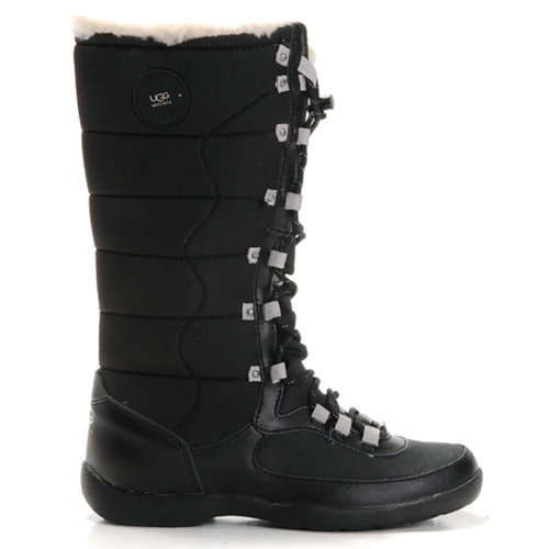 Dauphine 5741 Leather Ugg Boots - Black