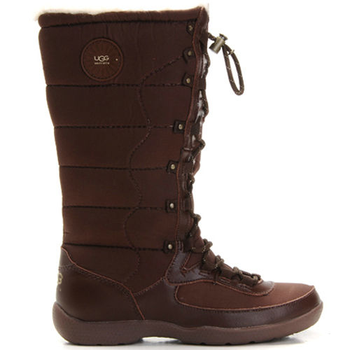 Dauphine 5741 Leather Ugg Boots - Chocolate