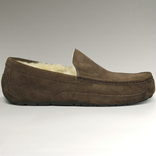 Mens Ascot S/N 5775 Suede Ugg Flats - Chocolate