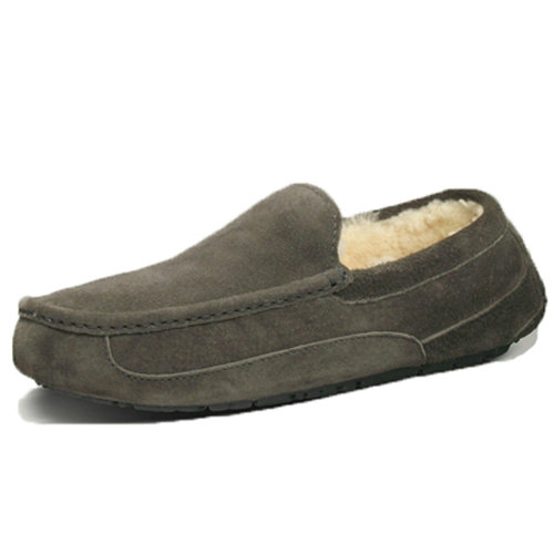 Mens Ascot S/N 5775 Suede Ugg Flats - Gray