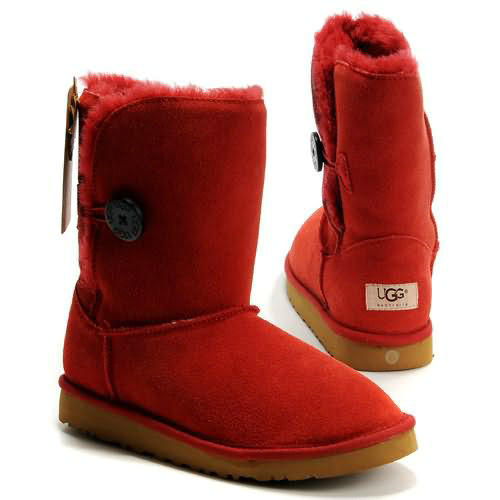 Bailey Button 5803 Ugg Boots - Red
