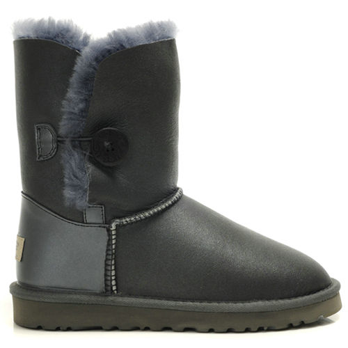 Bailey Button 5803 Metallic Ugg Boots - Gray