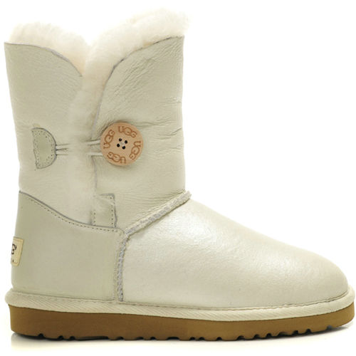 Bailey Button 5803 Metallic Ugg Boots - White