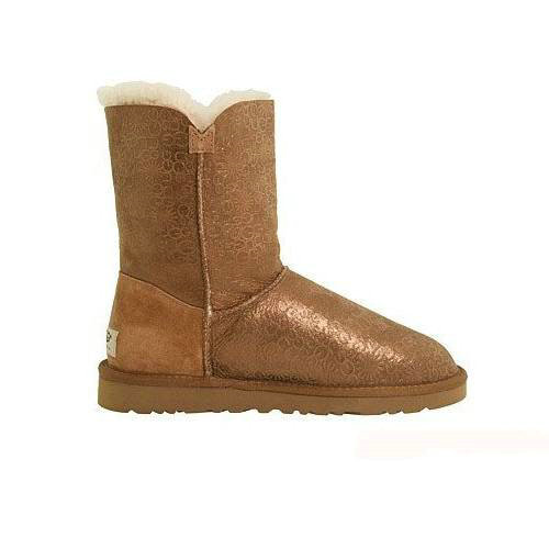 Bailey Button Fancy 5809 Metalic Ugg Boots - Chestnut