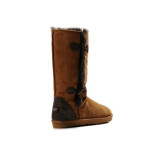 Roxy Tall 5818 Leather Ugg Boots - Chestnut