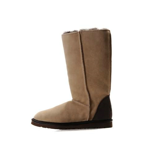 Roxy Tall 5818 Leather Ugg Boots - Sand