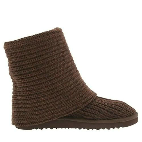 Classic Cardy 5819 Knit Style Ugg Boots - Chocolate