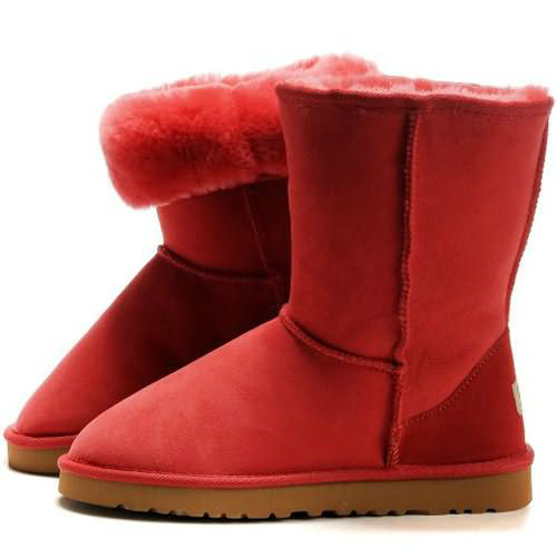 Classic Short W 5825 Ugg Boots - Red
