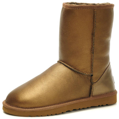Classic Short 5842 Metallic Ugg Boots - Brown