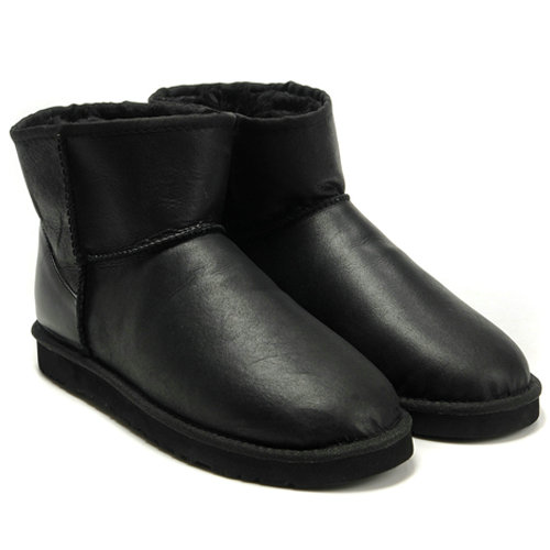 Classic Mini 5854 Metallic Ugg Boots -  Black
