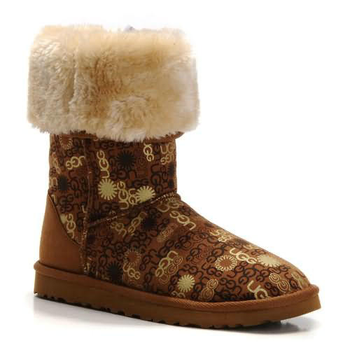 Fancy 5998 Ugg Boots - Chestnut Letter