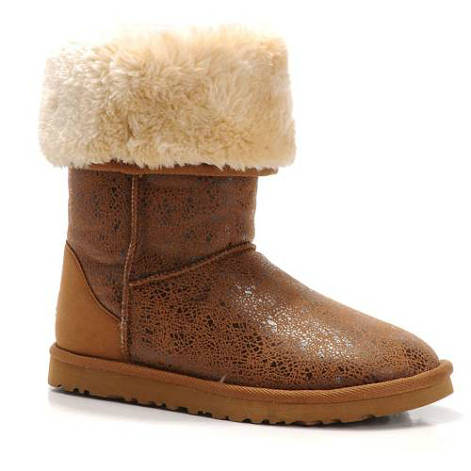 Fancy 5998 Ugg Boots - Chestnut Polygon