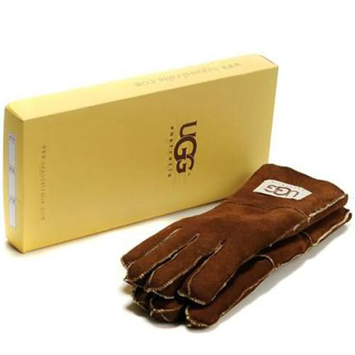 Mens Ugg Gloves - Brown